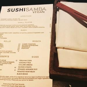 Sushi Samba Menu